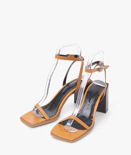 Square Thin Strap Heel