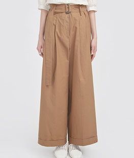 Dry Cotton Folding Wide Pants