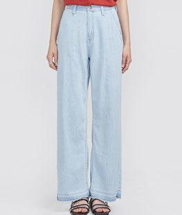 Washing Long Wide Denim Pants