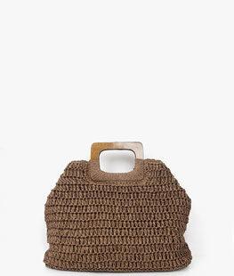 Square Straw Tote Bag