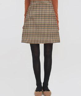 Mark High Check Skirt